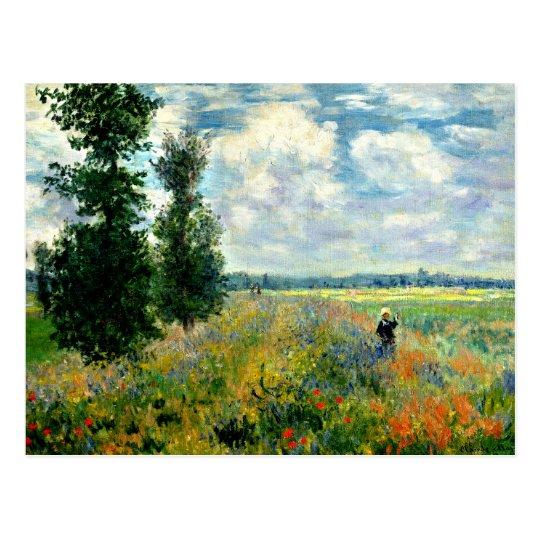 Monet - Poppy Field, Argenteuil Postcard