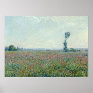 Monet, Poppy Field Poster