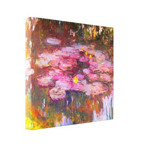 Monet Purple Water Lilies Canvas Print