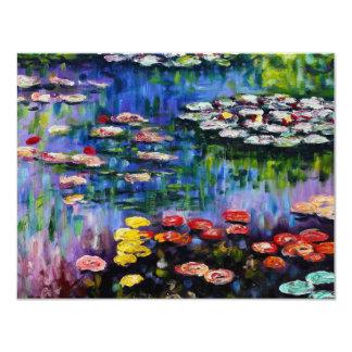 Monet Purple Water Lilies Invitations