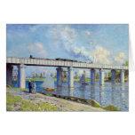 Monet - Railway Bridge at Argenteuil Greeting Card