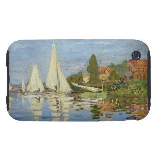 Monet - Regattas at Argenteuil Tough iPhone 3 Cover