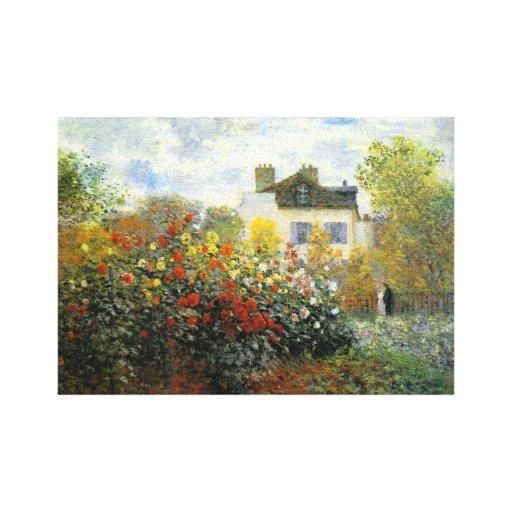 Monet Rose Garden Gallery Wrapped Canvas