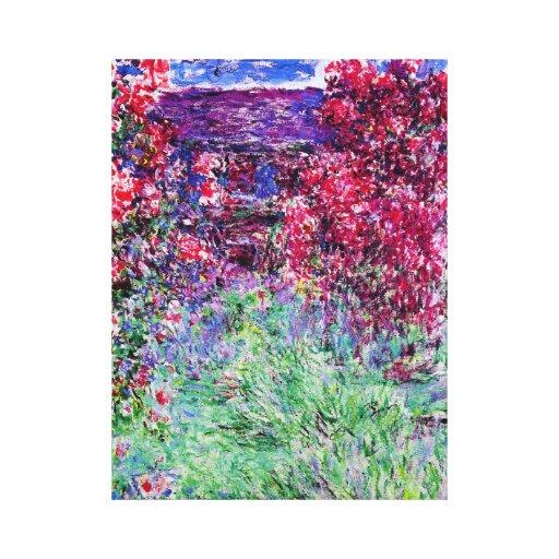 Monet Roses Canvas Print