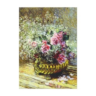 Monet Roses Canvas Print