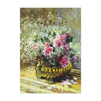 Monet Roses Canvas Prints
