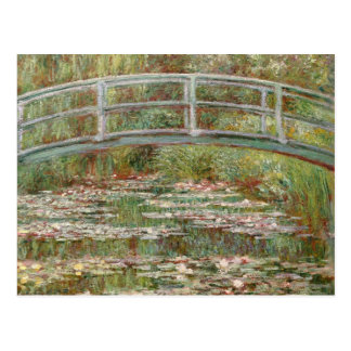 Monet s Bridge Over a Pond of Water Lilies 1899 Postcard