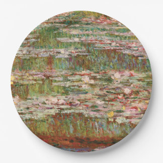 Monet's Water Lilies 9 Inch Paper Plate