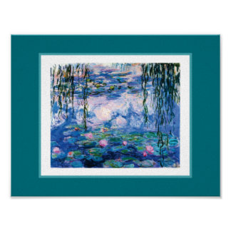 Monet's Water Lilies Poster
