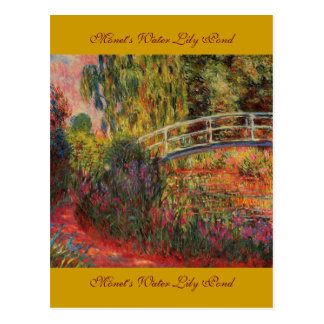 Monet's Water Lily Pond Postcard