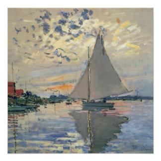 Monet Sailboat French Impressionist