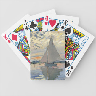 Monet Sailboat French Impressionist Bicycle Playing Cards