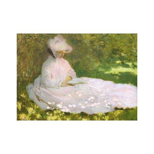 Monet Springtime Canvas Print