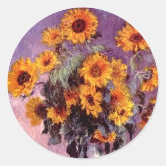 Monet Sunflowers Stickers