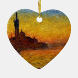 Monet Sunset in Venice Impressionist Painting Christmas Ornament