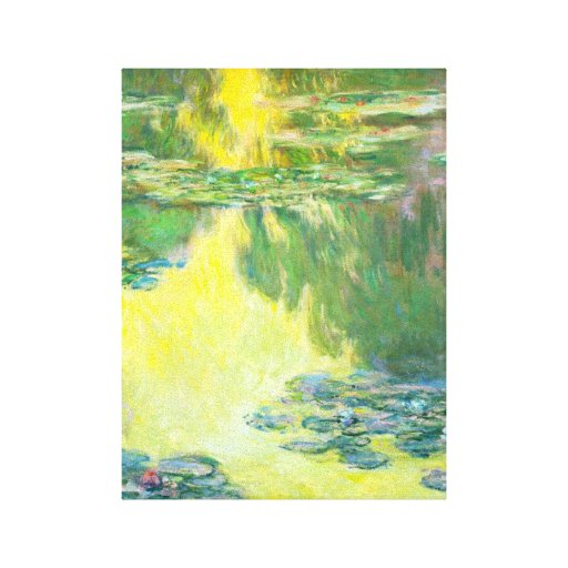 Monet Sunset Waterlilies Canvas Print