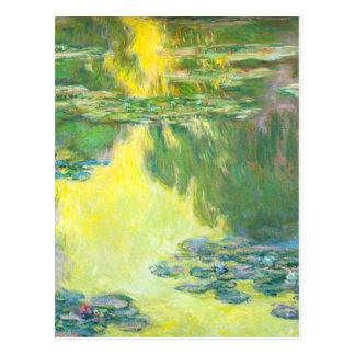 Monet Sunset Waterlilies Postcard