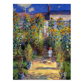 Monet, The Artist's Garden at Vetheuil Postcard