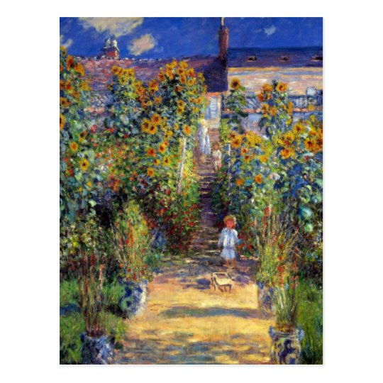Monet, The Artist's Garden at Vetheuil Postcard
