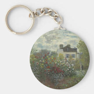 Monet The Artist's Garden in Argenteuil Basic Round Button Key Ring