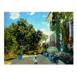 Monet - The Artist's House at Argenteuil Postcard