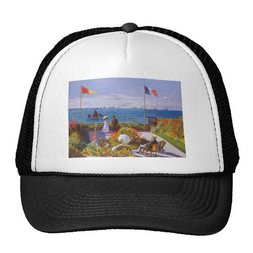 Monet The Garden At St. Addresse Painting Trucker Hats