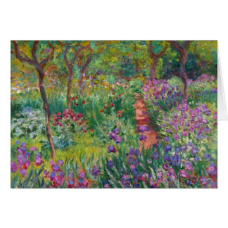 """Monet """"The Iris Garden at Giverny"""" Greeting Card"""