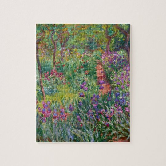 """Monet """"The Iris Garden at Giverny"""" Jigsaw Puzzle"""