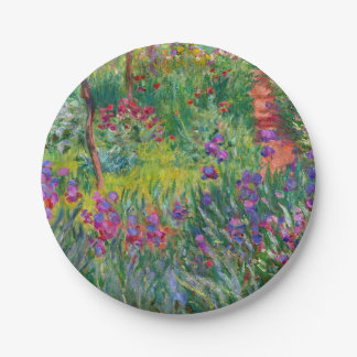"Monet ""The Iris Garden at Giverny"" Paper Plate"