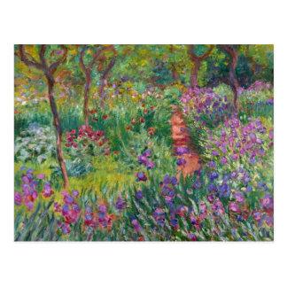 """Monet """"The Iris Garden at Giverny"""" Postcard"""