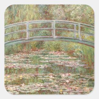 Monet: The Japanese Bridge Square Sticker