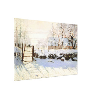 Monet The Magpie 36x23 Wrapped Canvas Gallery Wrap Canvas