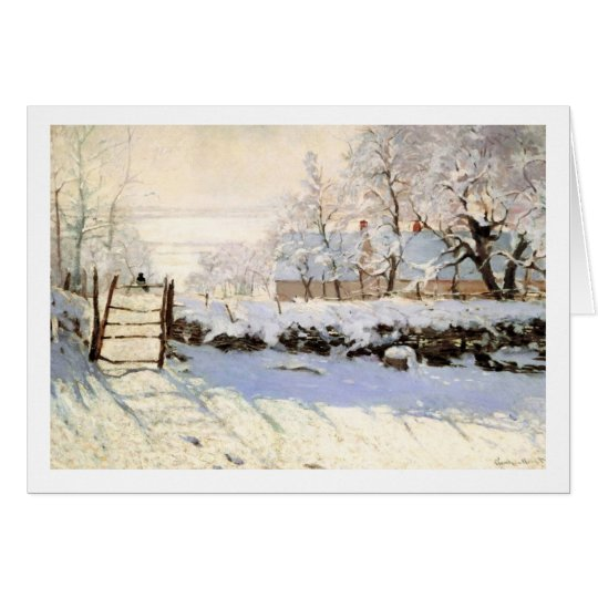 Monet The Magpie Greeting Card