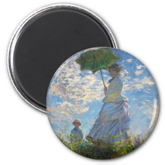 Monet The Promenade Woman with a Parasol Magnet