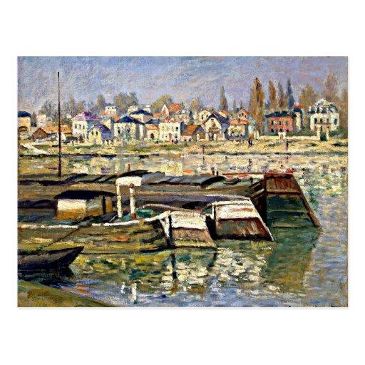 Monet - The Seine at Asnieres Post Card