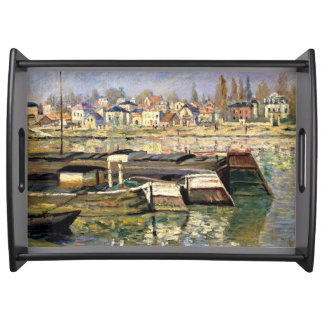 Monet - The Seine at Asnieres Serving Tray