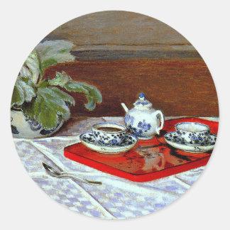 Monet: The Tea Set Classic Round Sticker