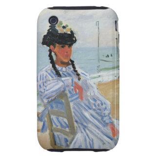 Monet - Trouville Beach iPhone 3 Tough Cover