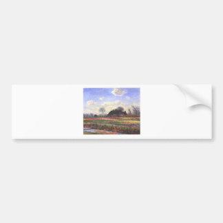 Monet-Tulpenfelder in Sassenheim-1886 Bumper Sticker