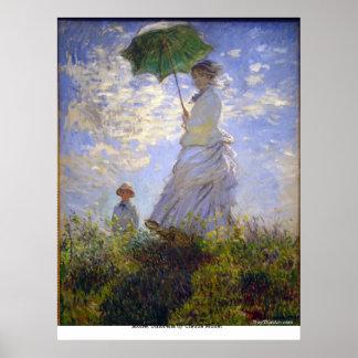 Monet Umbrella by Claude Monet Posters