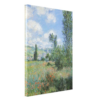 Monet Vetheuil 24x32 Wrapped Canvas Gallery Wrap Canvas