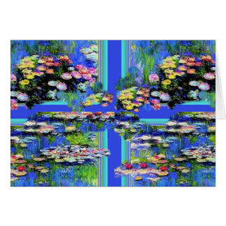 Monet Water garden designed by SHARLES Greeting Card
