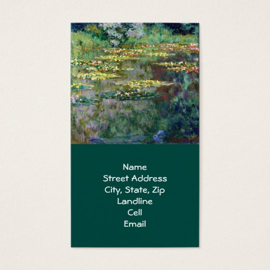 Monet Water Lilies (1904) Fine Art Business Card