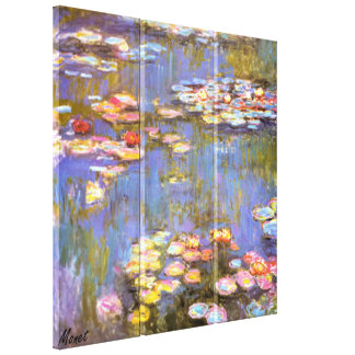 MONET WATER LILIES 1916 brite Stretched Canvas Art Stretched Canvas Print