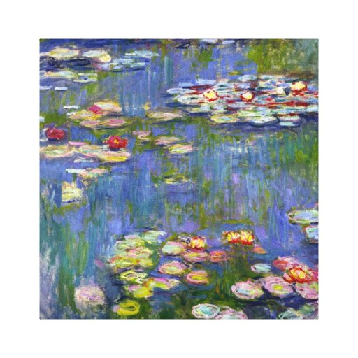 Monet Water Lilies 1916 Stretched Canvas Prints
