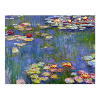 Monet Water Lilies 1916 Postcard