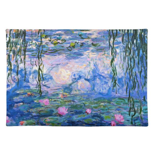 Monet - Water Lilies 1919 artwork Place Mats