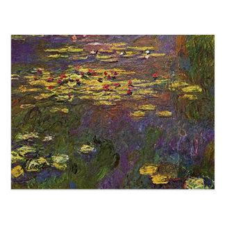 MONET Water Lilies 1920 Postcard