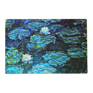 Monet - Water Lilies (Blue) Laminated Placemat