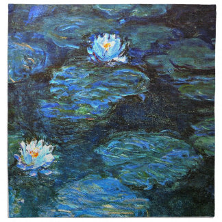 Monet - Water Lilies (blue) Napkin